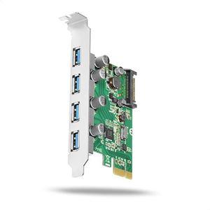 Slika od USB 3.0 kontroler PCIe (4 porta) Axagon PCEU-430V